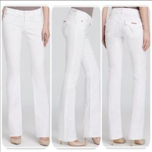 Hudson Jeans 'Beth' Baby Boot Leg White Jeans 27